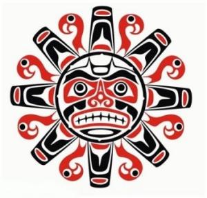 native american tattoo designs on Tribal Native Haida Tattoo Sun With Face